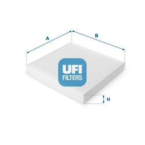 Filter, Innenraumluft Länge: 225mm, Breite: 235mm, Höhe: 30mm mit OEM-Nummer 80292-SDA-A01