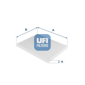 Filter, Innenraumluft Länge: 216,0mm, Breite: 265,0mm, Höhe: 21,0mm mit OEM-Nummer 6808 622