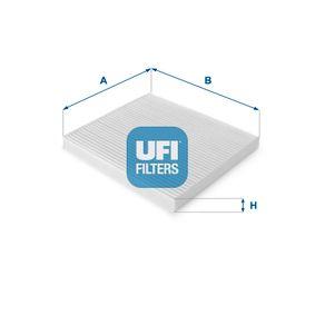 Filter, Innenraumluft Länge: 200mm, Breite: 221mm, Höhe: 20mm mit OEM-Nummer 88568 02030
