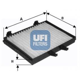 Filter, Innenraumluft Länge: 214,0mm, Breite: 155,0mm, Höhe: 25,0mm mit OEM-Nummer MR360889