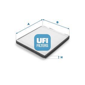 Filtro, aire habitáculo Long.: 230,0mm, Ancho: 197,0mm, Altura: 19,0mm con OEM número EC 965 396 49
