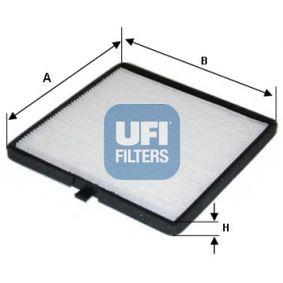 Filter, Innenraumluft Länge: 188mm, Breite: 197mm, Höhe: 10mm mit OEM-Nummer 96425700