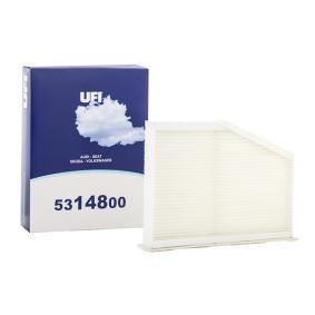 Filter, Innenraumluft Länge: 287mm, Breite: 215mm, Höhe: 57mm mit OEM-Nummer 1K0819644B