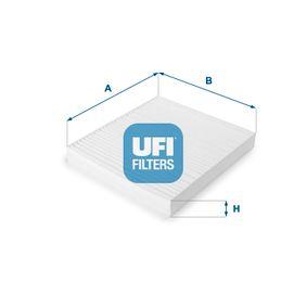 Filter, Innenraumluft Länge: 216,5mm, Breite: 194,5mm, Höhe: 25mm mit OEM-Nummer 05058693 AA