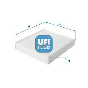 Filter, Innenraumluft Länge: 258mm, Breite: 224mm, Höhe: 35mm mit OEM-Nummer 6R0820367+