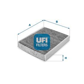 Filter, Innenraumluft Länge: 236,0mm, Breite: 183,5mm, Höhe: 35,0mm mit OEM-Nummer 1204 464