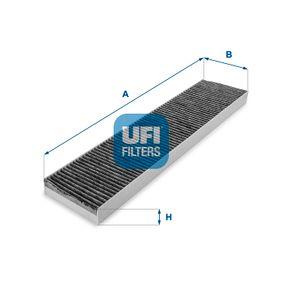 Filter, Innenraumluft Länge: 536,0mm, Breite: 109,5mm, Höhe: 30,0mm mit OEM-Nummer 1491 752