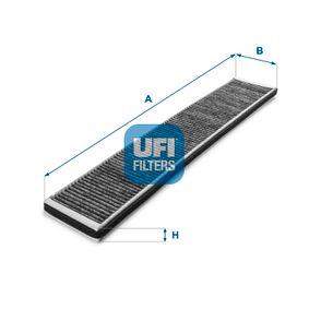 Filter, Innenraumluft Länge: 662,0mm, Breite: 96,5mm, Höhe: 21,0mm mit OEM-Nummer 64319257504