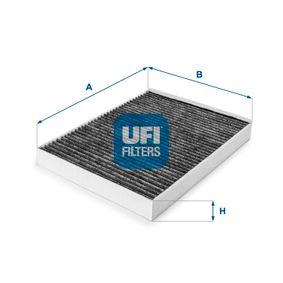 Filter, Innenraumluft Länge: 275mm, Breite: 218mm, Höhe: 36mm mit OEM-Nummer 7H0 819 631A