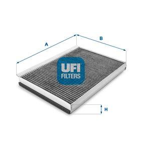 Filter, Innenraumluft Länge: 365,0mm, Breite: 246,0mm, Höhe: 35,0mm mit OEM-Nummer 68012 876AA