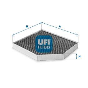 Filter, Innenraumluft Länge: 279,0mm, Breite: 240,5mm, Höhe: 35,0mm mit OEM-Nummer 8K0 819 439A