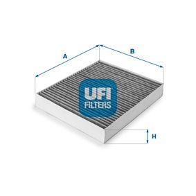 Filter, Innenraumluft Länge: 240mm, Breite: 204mm, Höhe: 35mm mit OEM-Nummer 52 420 930