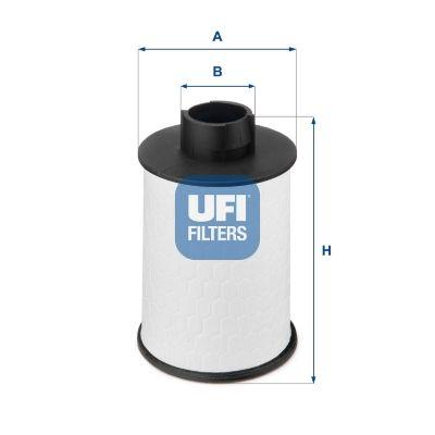 Filtro de Combustible UFI 60.H2O.00 conocimiento experto
