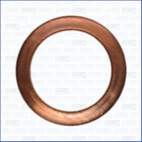 Seal, oil drain plug Ø: 20mm, Thickness: 1,5mm, Inner Diameter: 14mm with OEM Number 007603 014106