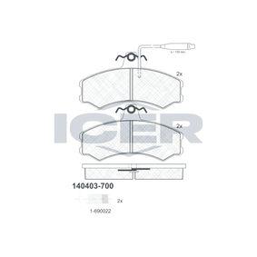 Bremsbelagsatz, Scheibenbremse Höhe: 71,5mm, Dicke/Stärke: 19,2mm mit OEM-Nummer 9 945 076