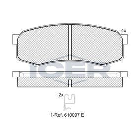 Bremsbelagsatz, Scheibenbremse Höhe: 43,9mm, Dicke/Stärke: 15,5mm mit OEM-Nummer 0446660090