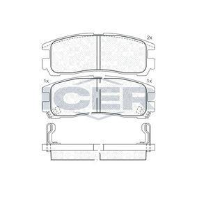 Bremsbelagsatz, Scheibenbremse Höhe: 72,9mm, Dicke/Stärke: 20mm mit OEM-Nummer 0004217391