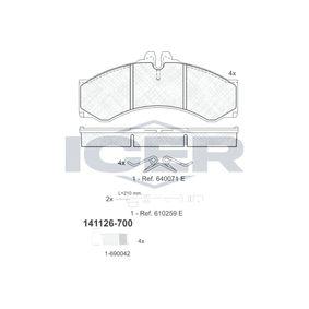 Bremsbelagsatz, Scheibenbremse Höhe: 72,9mm, Dicke/Stärke: 20mm mit OEM-Nummer 000 421 73 91