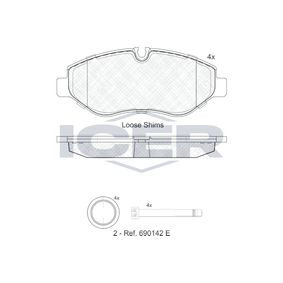 Bremsbelagsatz, Scheibenbremse Höhe: 66,8mm, Dicke/Stärke: 20,8mm mit OEM-Nummer 2E0.698.151