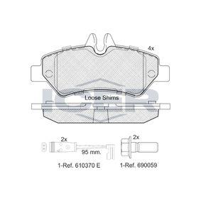 ICER  141787 Bremsbelagsatz, Scheibenbremse Höhe: 63,15mm, Dicke/Stärke: 19mm