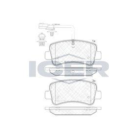 ICER  142001 Brake Pad Set, disc brake Height: 59,5mm, Thickness: 18,2mm