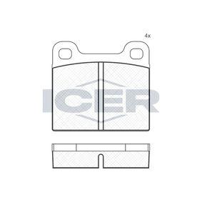 Bremsbelagsatz, Scheibenbremse Breite: 61,8mm, Höhe: 56,6mm, Dicke/Stärke: 15mm mit OEM-Nummer 3102 54042