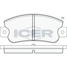 Bremsbelagsatz, Scheibenbremse Breite: 108,9mm, Höhe: 47,5mm, Dicke/Stärke: 12mm mit OEM-Nummer 791873