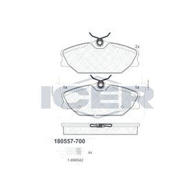 Bremsbelagsatz, Scheibenbremse Breite: 129,9mm, Höhe: 55,5mm, Dicke/Stärke: 18,3mm mit OEM-Nummer 7701 202 289