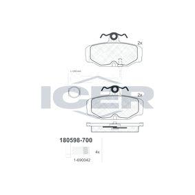 Bremsbelagsatz, Scheibenbremse Art. Nr. 180598-700 120,00€