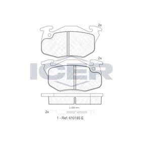 Bremsbelagsatz, Scheibenbremse Höhe: 54,4mm, Dicke/Stärke: 18mm mit OEM-Nummer 4248 62