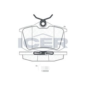 ICER Bremseklodser 180697-703 med OEM Nummer 1608681580