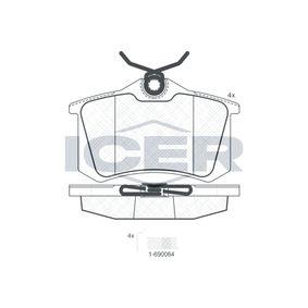 ICER Jogo de pastilhas para travão de disco 180697-703 com códigos OEM 1J0698451S