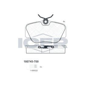 Kit pastiglie freno, Freno a disco Largh.: 94,7mm, Alt.: 52,9mm, Spessore: 17,9mm con OEM Numero 21128