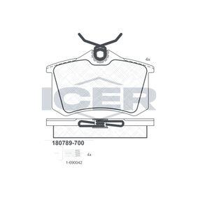 ICER Jogo de pastilhas para travão de disco 180789-700 com códigos OEM 8E0698451D