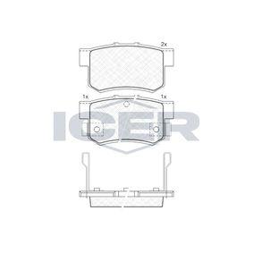 ICER Remblokkenset, schijfrem 180798 met OEM Nummer SFP000080