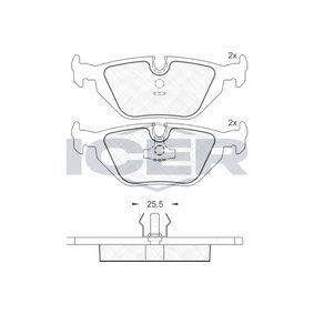 Bremsbelagsatz, Scheibenbremse Höhe: 44,9mm, Dicke/Stärke: 16,8mm mit OEM-Nummer 34212157621