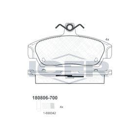 ICER  180806-700 Brake Pad Set, disc brake Height: 60,4mm, Thickness: 17mm