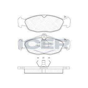 Комплект спирачно феродо, дискови спирачки 180858 Corsa B Хечбек (S93) 1.4i 16V (F08, F68, M68) Г.П. 1994