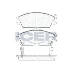 Bremsbelagsatz, Scheibenbremse Breite: 127,5mm, Höhe: 49,0mm, Dicke/Stärke: 15mm mit OEM-Nummer 5810125A20