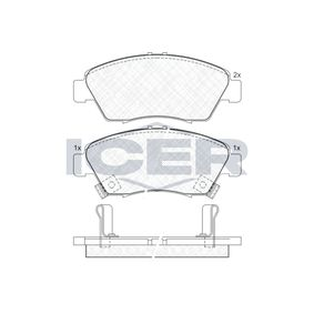 Brake Pad Set, disc brake Width: 136,3mm, Height: 57,8mm, Thickness: 17,3mm with OEM Number 45022-TR2-A01