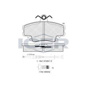 Bremsbelagsatz, Scheibenbremse Höhe: 64,9mm, Dicke/Stärke: 18mm mit OEM-Nummer 7701201773