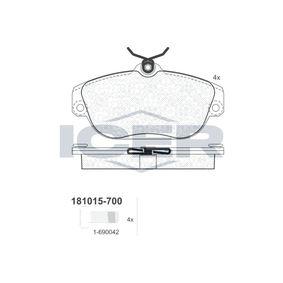 Bremsbelagsatz, Scheibenbremse Art. Nr. 181015-700 120,00€
