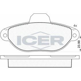 ICER  181018 Brake Pad Set, disc brake Height: 55,2mm, Thickness: 17mm