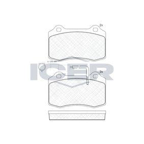 Bremsbelagsatz, Scheibenbremse Höhe: 69mm, Dicke/Stärke: 17mm mit OEM-Nummer 5892740
