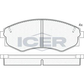 Bremsbelagsatz, Scheibenbremse Breite: 137,0mm, Höhe: 53,9mm, Dicke/Stärke: 17mm mit OEM-Nummer 58101-29A40