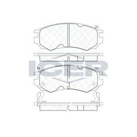 Bremsbelagsatz, Scheibenbremse Höhe: 52mm, Dicke/Stärke: 15mm mit OEM-Nummer D10600N685