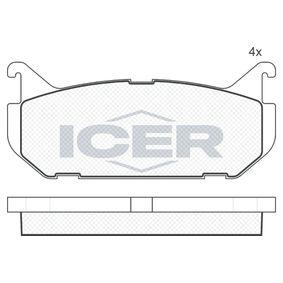 Bremsbelagsatz, Scheibenbremse Breite: 99,9mm, Höhe: 43,5mm, Dicke/Stärke: 13,5mm mit OEM-Nummer G5Y52643Z