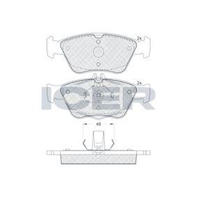 ICER  181115 Bremsbelagsatz, Scheibenbremse Höhe 2: 60,1mm, Höhe: 66,2mm, Dicke/Stärke: 19,8mm