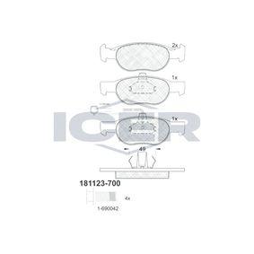 Bremsbelagsatz, Scheibenbremse Höhe 2: 52,03mm, Höhe: 52,07mm, Dicke/Stärke: 17,9mm mit OEM-Nummer 9947600