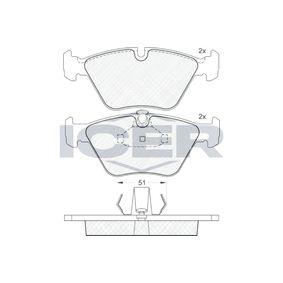 ICER  181140 Bremsbelagsatz, Scheibenbremse Höhe 2: 63,51mm, Höhe: 63,53mm, Dicke/Stärke: 20,3mm